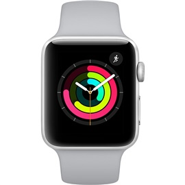 Apple Watch Series 3 42mm (MQL02); STŘÍBRNÉ A MLHAVĚ ŠEDY ŘEMÍNEK