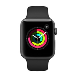 Apple Watch Series 3 38mm (MQL12); ŠEDÉ A ČERNÝ NÁRAMEK