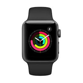 Apple Watch Series 3 38mm (MQKV2); ŠEDÉ A ČERNÝ ŘEMÍNEK