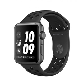 Apple Watch Series 3 Nike+ 42mm (MQL42); ANTRACITOVĚ ČERNÉ A ČERNÝ ŘEMÍNEK