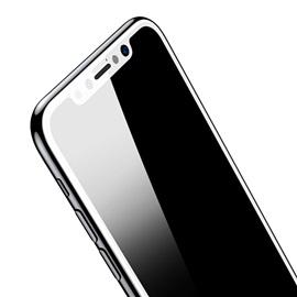 Tvrzené sklo Apple iPhone X 3D; BÍLÁ