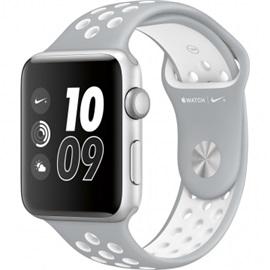 Apple hodinky Nike+ (MQ192); STŘÍBRNÁ a pure řemínek