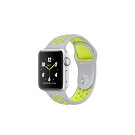 Apple hodinky Nike+ S2 (MNYP2) 38mm; STŘÍBRNÁ a stříbrný řemínek