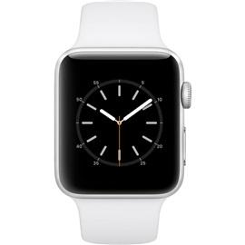 Apple hodinky Series 2 (MNPJ2) 42mm; STŘÍBRNÁ a bílý řemínek