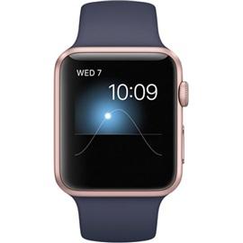 Apple hodinky Series 1 (MNNM2) 42mm; RŮŽOVO ZLATÁ a Midnight řemínek
