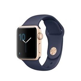 Apple hodinky Series 2 (MQ132) 38mm; ZLATÁ a tmavě modrý řemínek