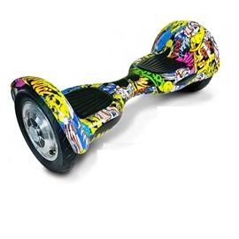 "Hoverboard EcoWheel 10"" Offroad; GRAFITTY ŽLUTÁ"