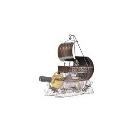 Loďka stojan na víno 37065