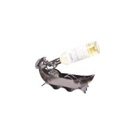 Ležící rybář v člunu - stojan na víno 35478