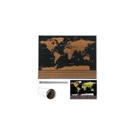 Velká Stírací mapa světa s vlajkami Deluxe 82 x 59 cm bez příslušenství